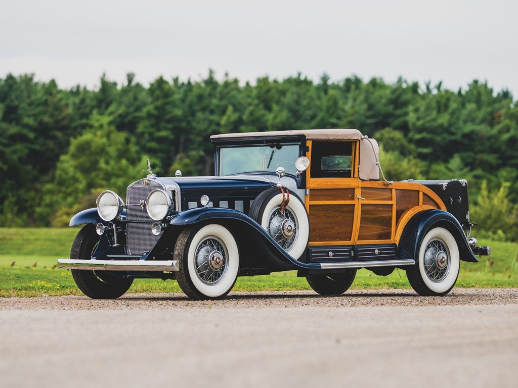 1931 Cadillac V-16 Woodie Convertible Coupe  For Sale by Auction (picture 1 of 6)