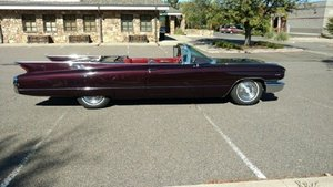 1960 Cadillac Convertible .. Black Cherry