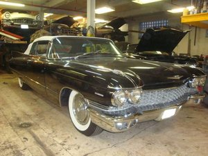 1960 Cadillac 62 Convertible .. Black For Sale