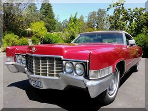 1969 Cadillac Coupe de Ville Convertible Cali Car Red $19.9k For Sale