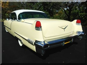1956 Cadillac Coupe de Ville Clean Yellow AC Auto 365-V-8  For Sale