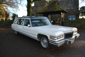 1975 Hearse Hire Cadillac Fleetwood S&S Superior Funeral Coach For Hire
