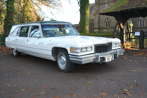 "1975 Cadillac Fleetwood S&S Superior Hearse ""Funeral Coach"""