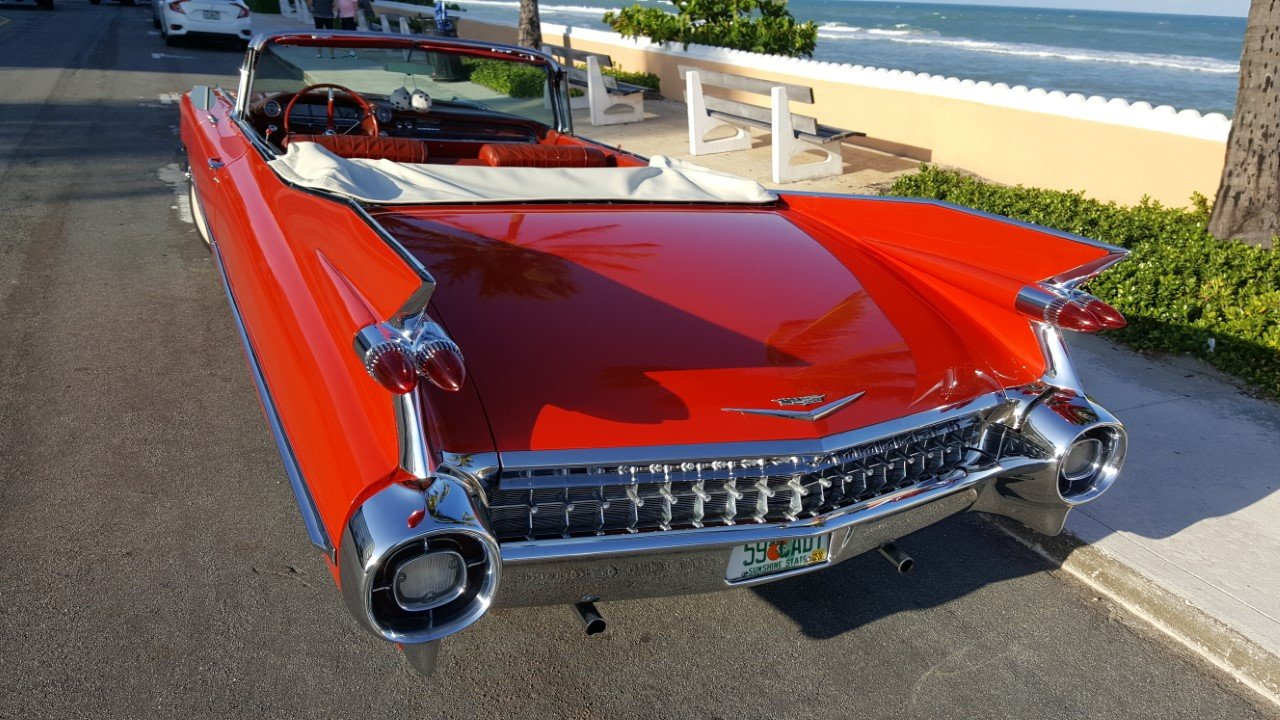 1959 Cadillac deVille Convertible .. RED For Sale (picture 2 of 6)