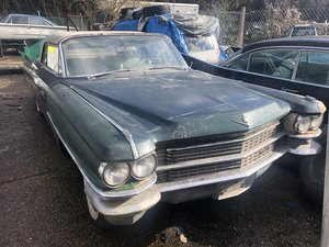 1963 Cadillac Series 62 convertible for resto. Export model