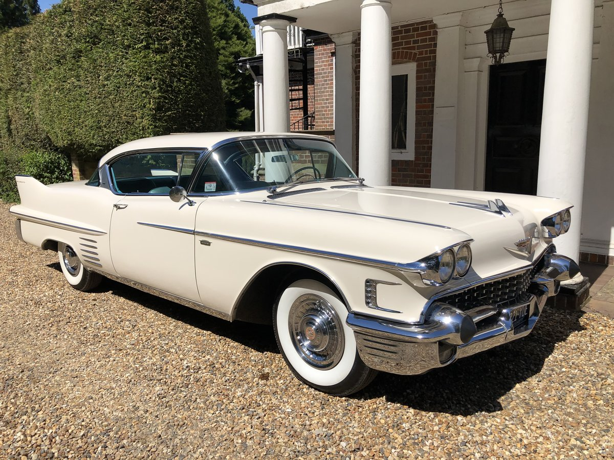 1958 CADILLAC 2 DOOR PILLARLESS COUPE STUNNING CAR For Sale (picture 1 of 6)