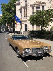 1972 Cadillac Eldorado Gold classic car vintage