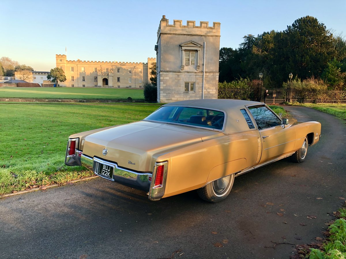 1972 Cadillac Eldorado Gold classic car vintage For Sale (picture 3 of 6)