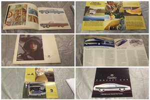 CADILLAC MEMORABILLIA CATALOGUES ALL ORIGINAL