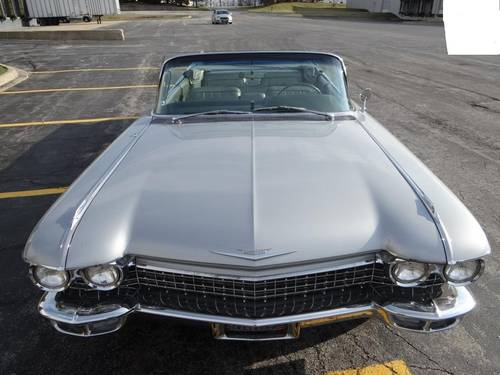 1960 Cadillac 62 Convertible * Silver For Sale (picture 3 of 6)