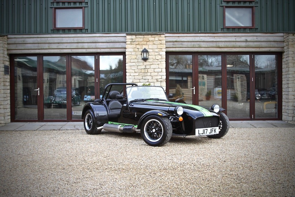 2017 Caterham 310S SV 1600, Black / Kawasaki Green Decals For Sale (picture 1 of 6)