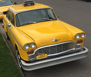 1981 New York checker and crown Victoria  taxi hire