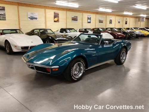 1972 Turqiouse Corvette Convertible For Sale For Sale (picture 1 of 6)
