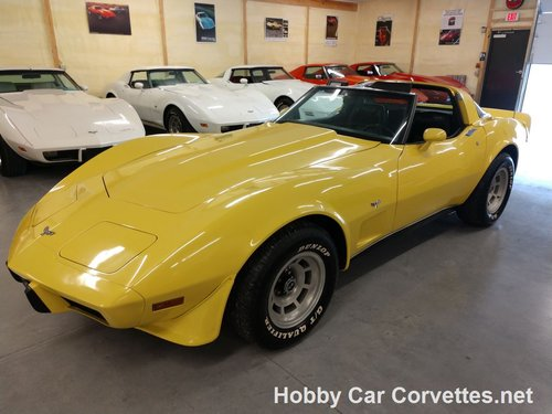 1979 Yellow Corvette Black Interior Nice Driver For Sale (picture 1 of 6)