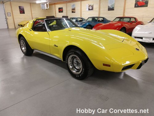 1976 Yellow Corvette L82 For Sale For Sale (picture 1 of 6)