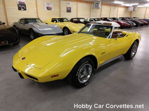 1975 Yellow Corvette Convertible 4spd 2 tops For Sale For Sale (picture 1 of 6)