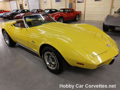 1975 Yellow Corvette Convertible 4spd 2 tops For Sale For Sale (picture 3 of 6)