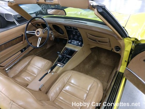 1975 Yellow Corvette Convertible 4spd 2 tops For Sale For Sale (picture 5 of 6)