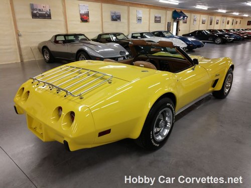 1975 Yellow Corvette Convertible 4spd 2 tops For Sale For Sale (picture 6 of 6)