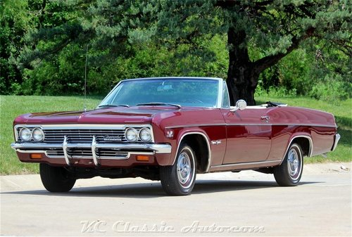 1966 Chevrolet Impala SS Conv Every Option #s Match 396 For Sale (picture 1 of 6)