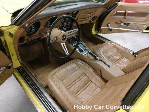 1974 Yellow corvette Tan interior for sale For Sale (picture 4 of 6)