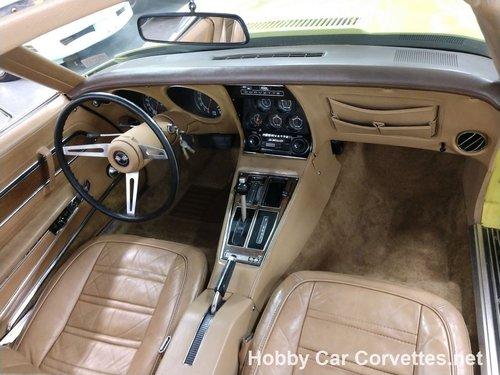 1974 Yellow corvette Tan interior for sale For Sale (picture 5 of 6)