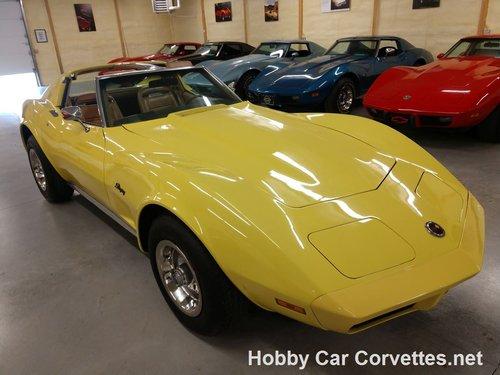 1974 Yellow corvette Tan interior for sale For Sale (picture 6 of 6)