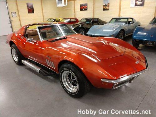 1969 Orange Corvette Tan interior For Sale (picture 1 of 6)