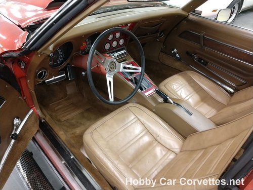 1969 Orange Corvette Tan interior For Sale (picture 4 of 6)