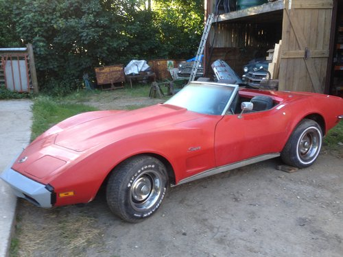 1973 manual convertible 350 cu in corvette For Sale (picture 1 of 6)