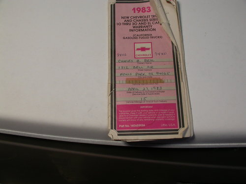 1983 ONE CALIFORNIA OWNER , IN THE UK ,CURRENT MOT &UK REGISTERED For Sale (picture 3 of 5)
