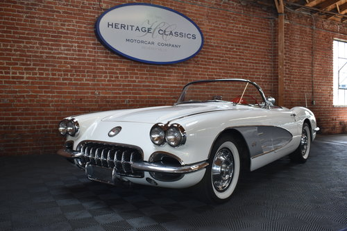 1960 Chevrolet Corvette in Ermine White For Sale (picture 2 of 6)
