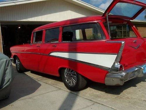 1957 Chevrolet Bel Air 4DR Wagon For Sale (picture 3 of 5)
