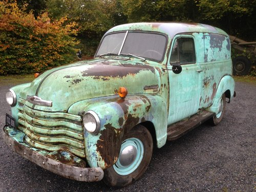 1951 chevrolet 15000 mile panel van For Sale (picture 1 of 6)