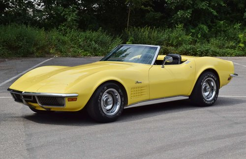Corvette C3 convertible (1970) 300bhp chromes original LHD For Sale (picture 1 of 6)