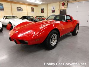 1978 red corvette black interior automatic