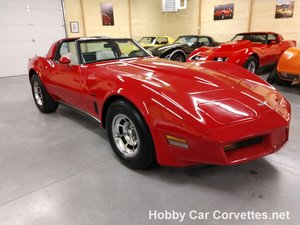 1980 red L82 Corvette Oyster Corvette For Sale