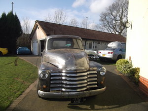1954 Chevy Pick Up Truck, 305 V8, Automatic, Rat Rod