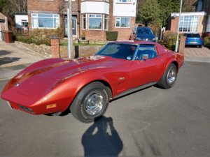 1973 Corvette 350 T-Top Coupe with 700R4 OD GD For Sale