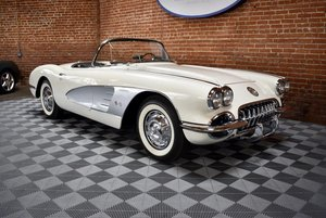 1959 Corvette Roadster = 283 Auto Clean Ivory $78.5k For Sale