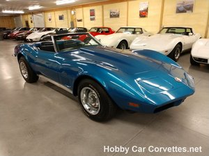 1973 Blue Blue Corvette Convertible 4spd For Sale
