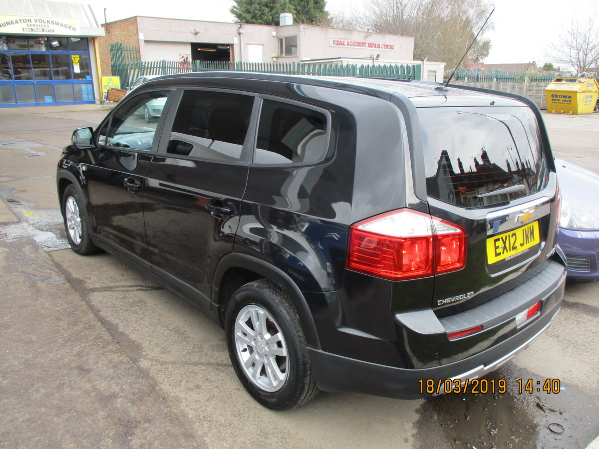 2012 DIESEL AUTO 7 SEAT CHEVROLET ORLANDO MPV NEW MOT NICE For Sale (picture 5 of 6)