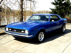 1968 chevy Camaro Coupe = Fast 454 + 4 speed Blue $25.5k For Sale