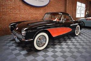 1957 Corvette = Restored Black 14k miles  283 Manual  $88.5k