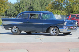1957 Chevy Bel Air = Fast ZZ502 500-HP engine Auto $69k For Sale