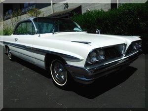 1961 Pontiac Bonneville Bubble Top = 389 Auto PW $23.9k For Sale