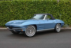 1964 Corvette Stingray Convertible = Restored Blue 8k miles