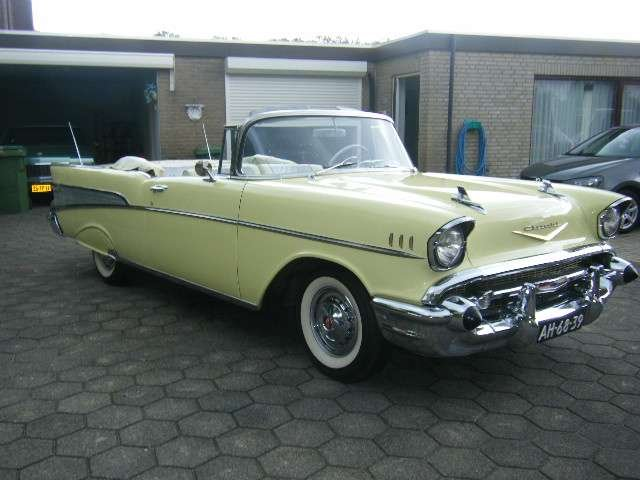 Chevrolet Bel Air Conv V 8 1957   & 50 USA Classics For Sale (picture 1 of 6)