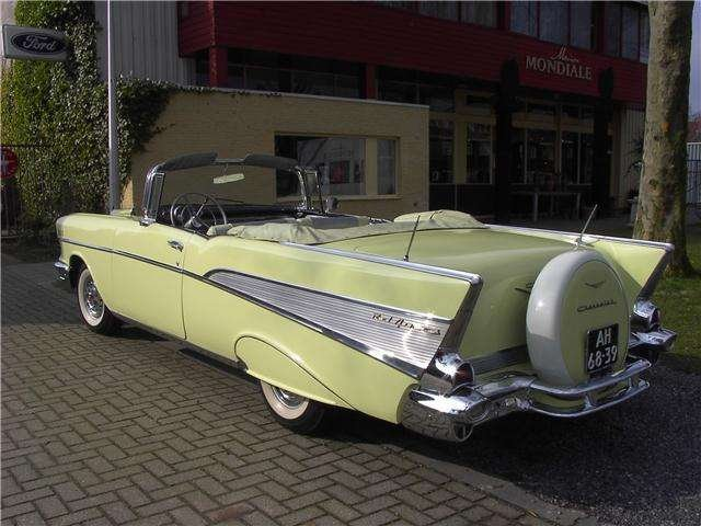 Chevrolet Bel Air Conv V 8 1957   & 50 USA Classics For Sale (picture 2 of 6)