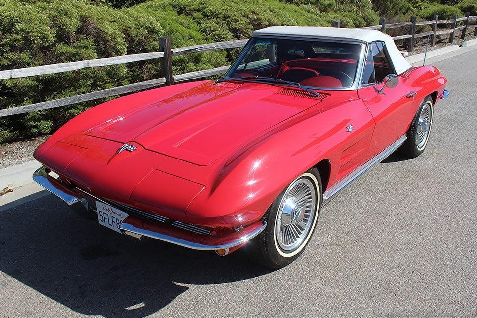 1964 Corvette Convertible = 327 Auto Red 65k miles $37.5k For Sale (picture 2 of 6)
